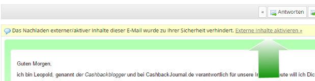 Mit Bildern sehen meine Nachrichten schöner aus. Wenn emailn.de diese unterdrückt, einfach noch den markierten Link anklicken.