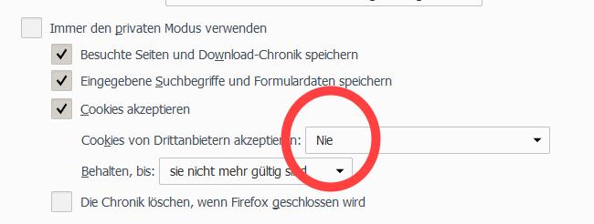 Browser-AddOn – Firefox Datenschutzeinstellungen anpassen