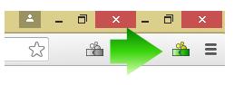 Wenn es auf einer Website Cashback gibt, verfärbt sich das Icon unseres Browser-AddOns.