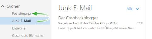 Manchmal ordnet Outlook meine E-Mails falsch ein - ändere das!